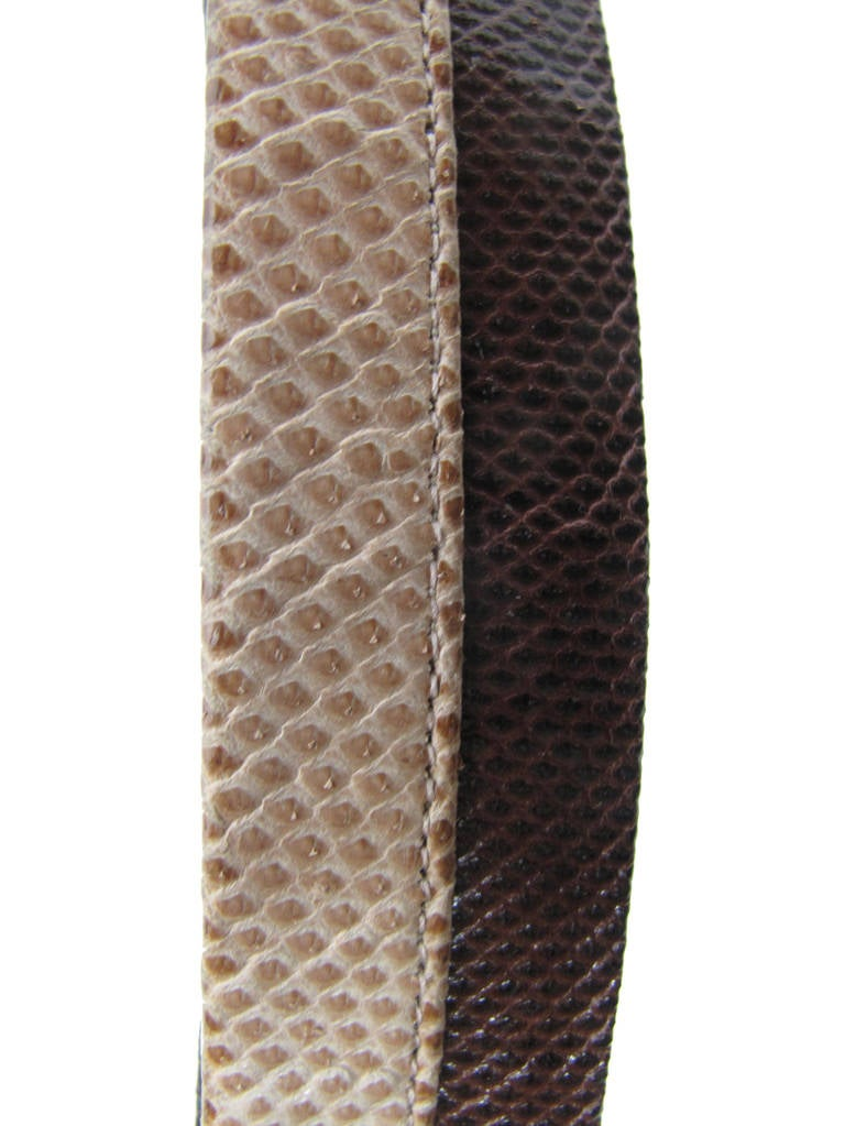 Judith Leiber Snakeskin Waist Belt 3
