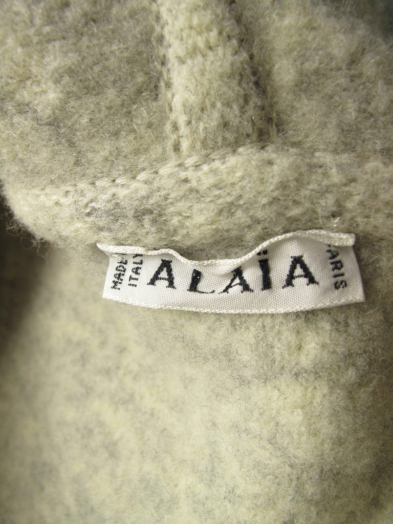 Rare 1990s Alaia Sweater Coat - sale For Sale 1