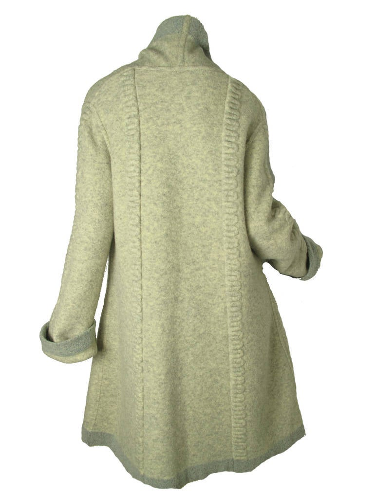 Rare 1990s Alaia Sweater Coat Sale For Sale At 1stdibs