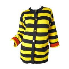 Yves Saint Laurent wool striped cardigan