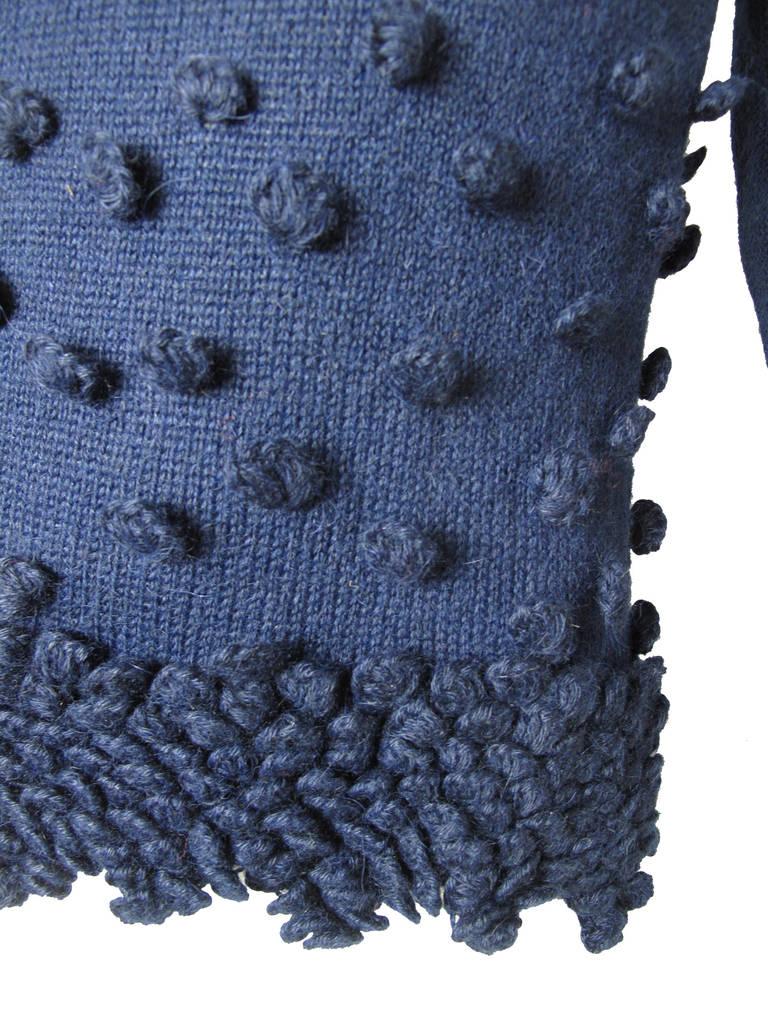 Romeo Gigli Navy Alpaca Sweater 2