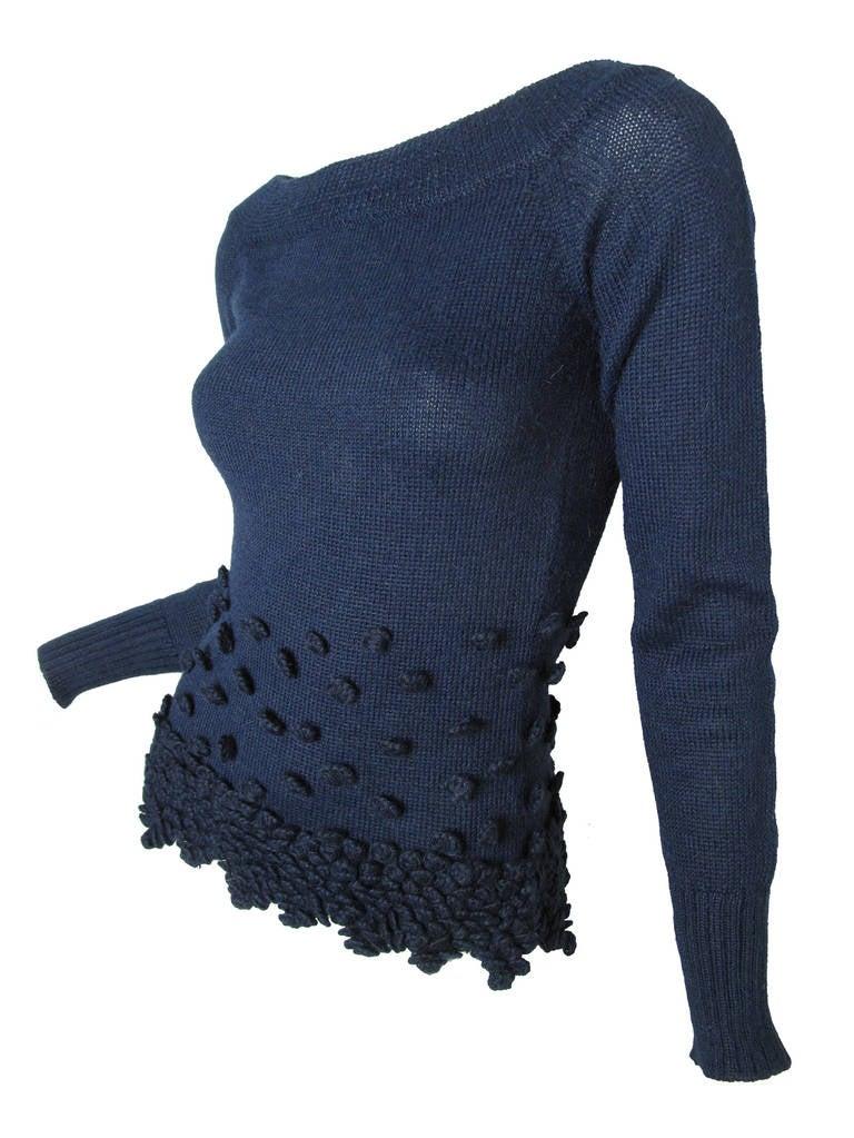 Romeo Gigli Navy Alpaca Sweater 3