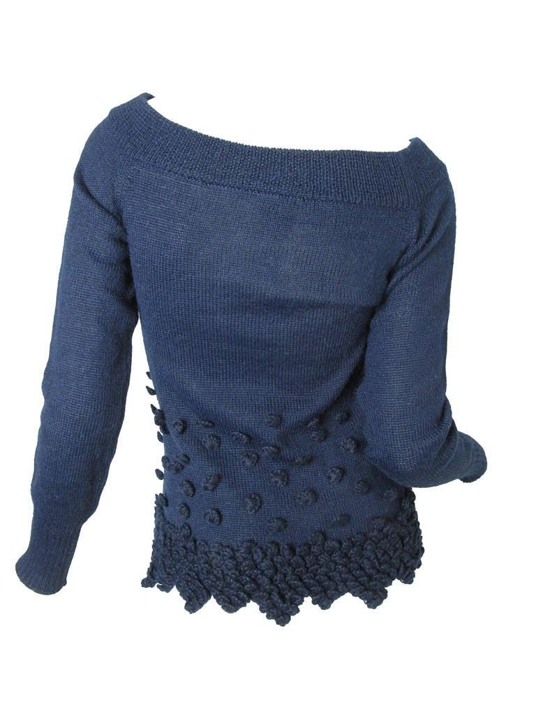 Romeo Gigli Navy Alpaca Sweater 4