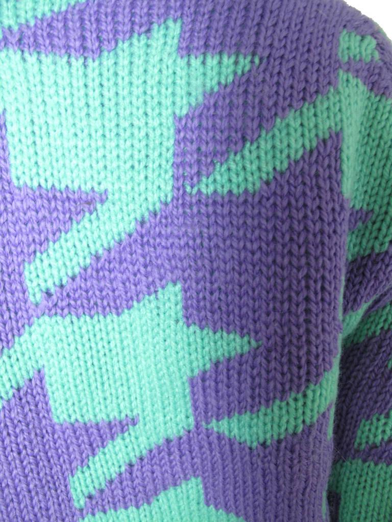 Purple Comme des Garcons Junya Watanabe wool sweater For Sale
