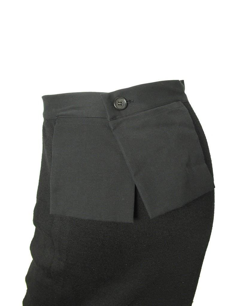Black Yohji Yamamoto long skirt with exterior pockets - sale For Sale
