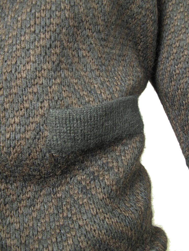 Black Alaia knit sweater dress For Sale
