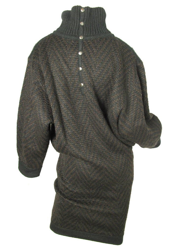 Women's Alaia knit sweater dress For Sale