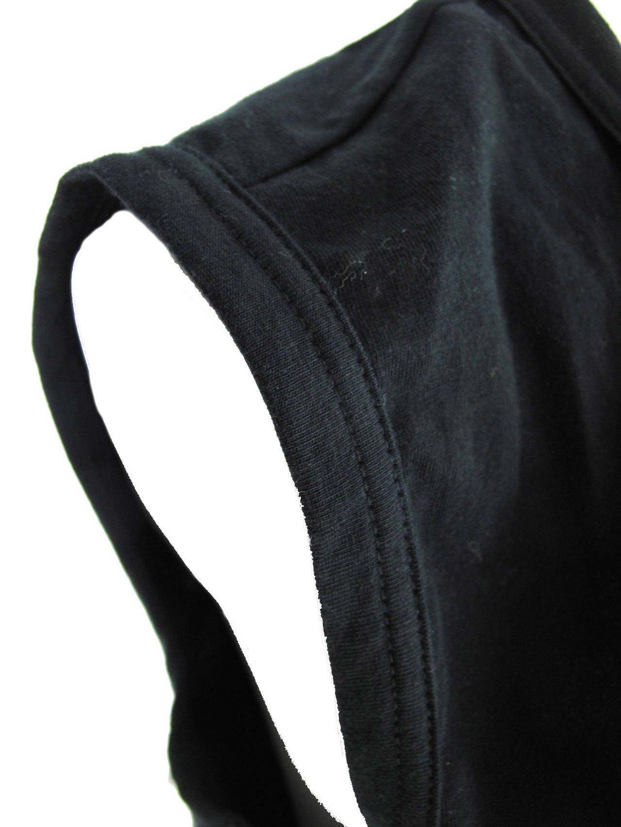 Black Comme des Garcons Cotton Sleeveless Top with Slash on back, 2006  For Sale