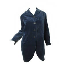 Romeo Gigli Navy Velvet Coat