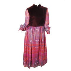 1970s Adele Simpson Dress