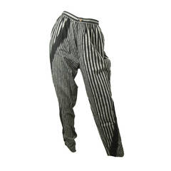 1980s Issey Miyake Striped Pants