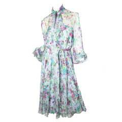 Alfred Bosand Floral Chiffon Dress