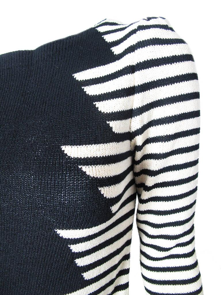 Adolfo wool zig zag dress 2