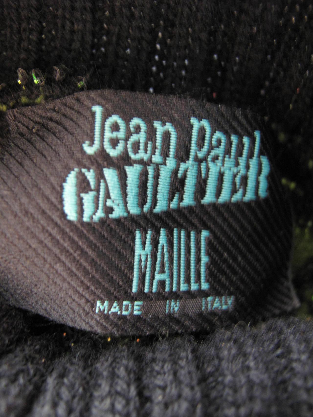 Jean Paul Gaultier Knit Circuit Board Dress, 1990s   For Sale 1