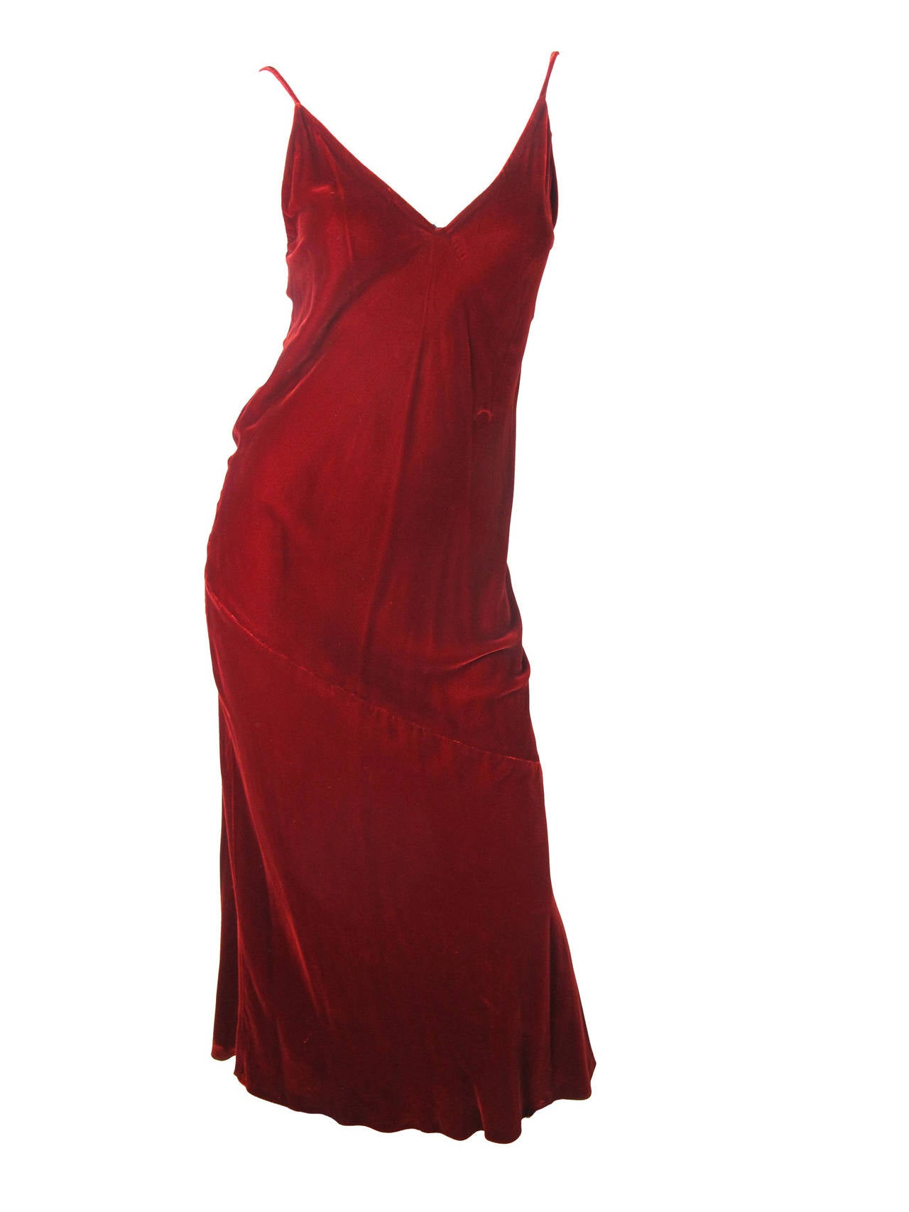 1990s Jean Paul Gaultier Velvet Gown with Large Fabric Beads 2