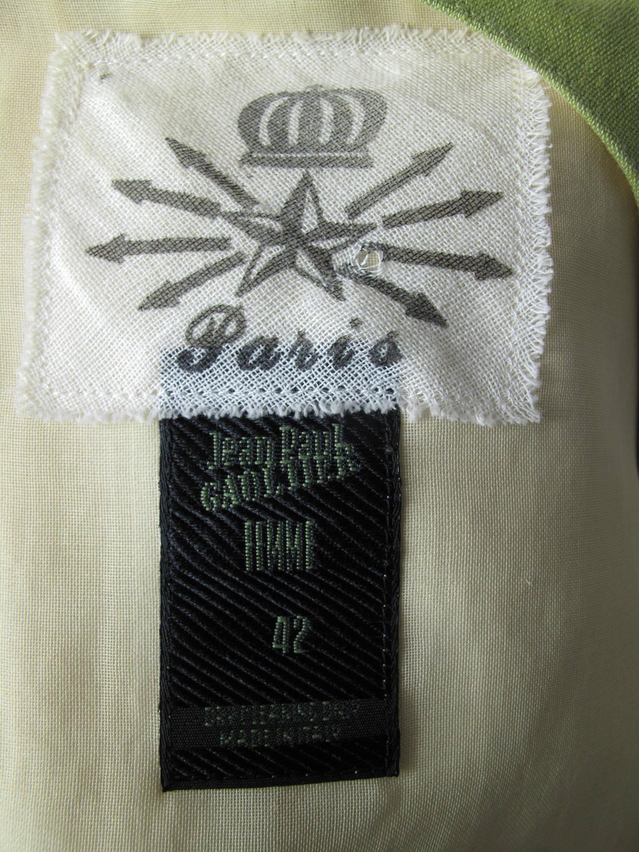 1990s Jean Paul Gaultier Sheer Blouse with Vest 5