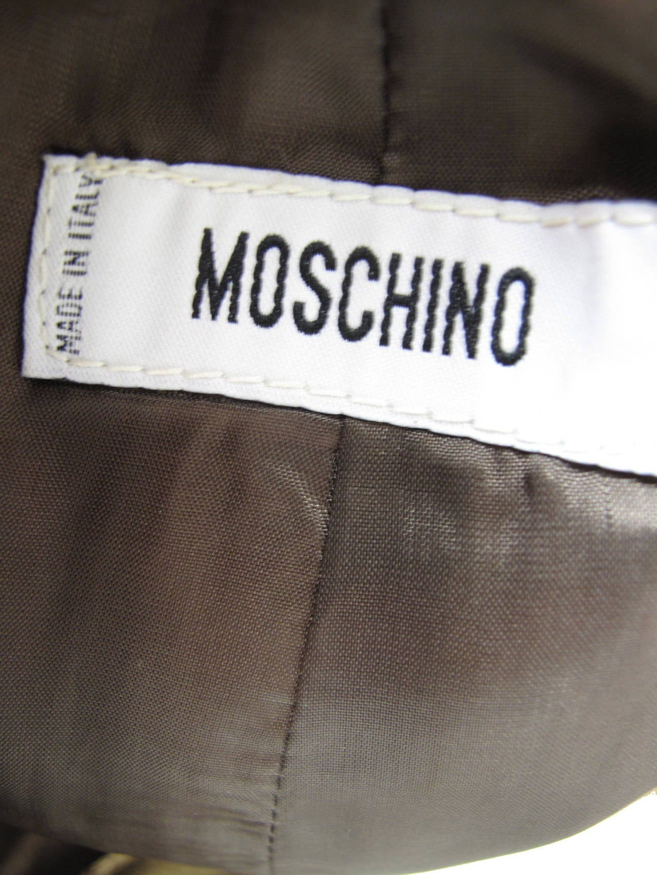 Women's Moschino Gold Metallic Leather Skirt For Sale