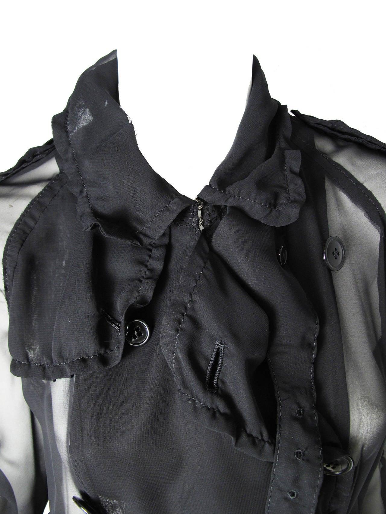 2009 Comme des Garcons Sheer Trench Coat 2