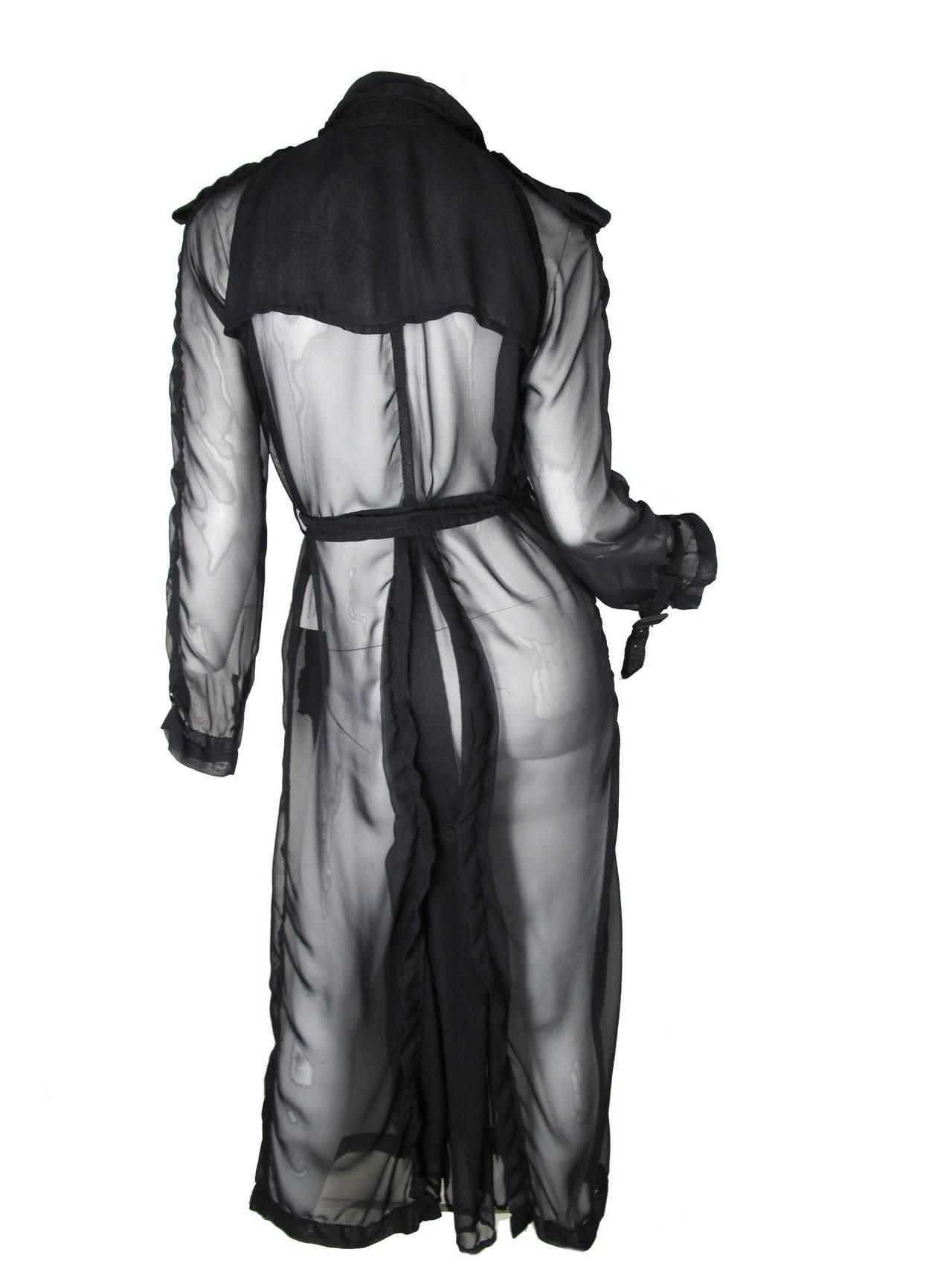 2009 Comme des Garcons Sheer Trench Coat 3
