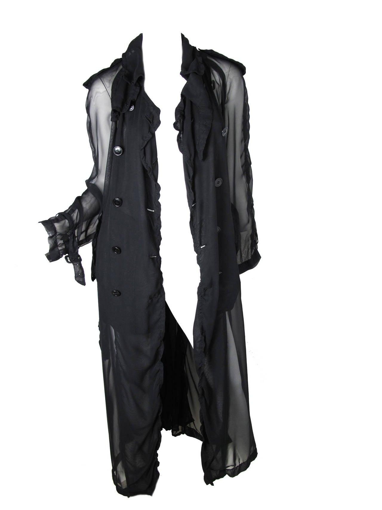 2009 Comme des Garcons Sheer Trench Coat 4