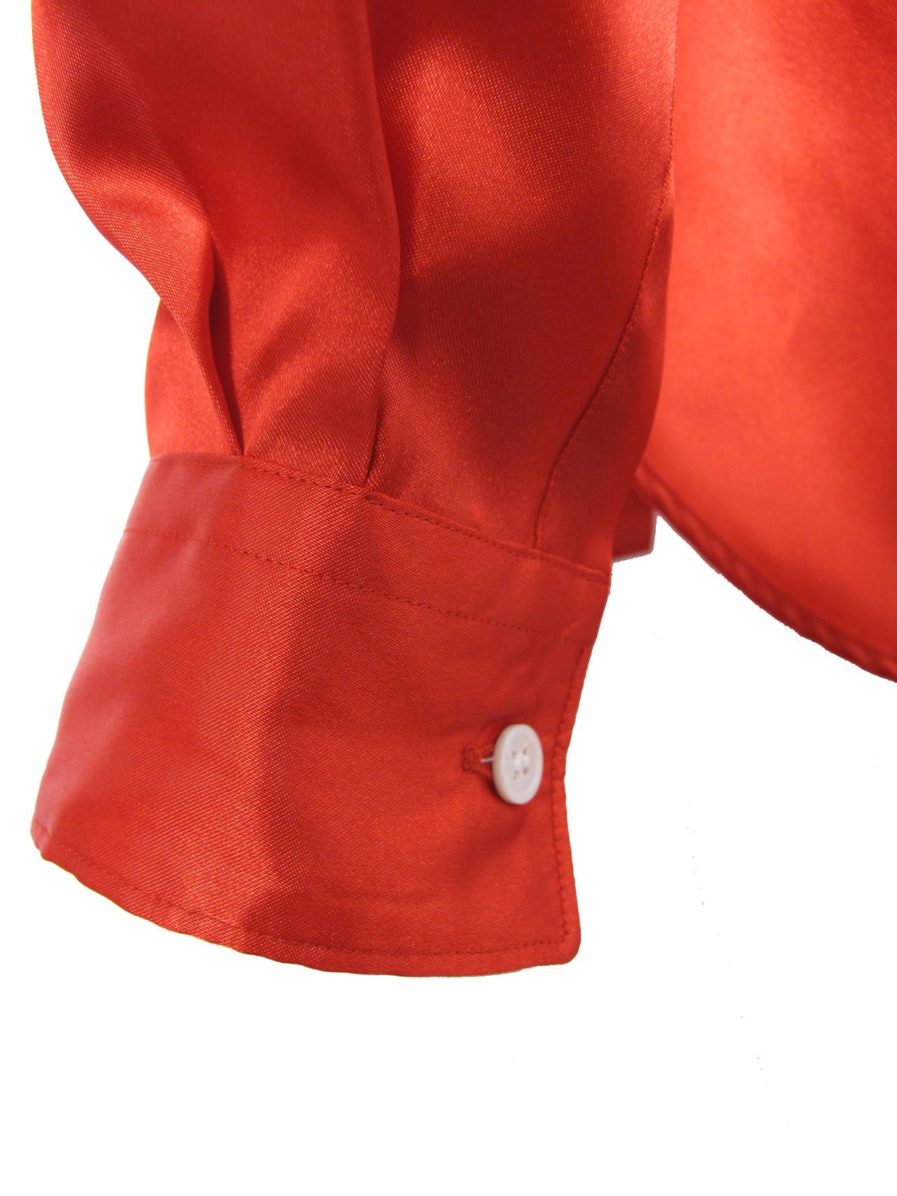 Comme des Garcons Red Shirt,  2008  In Excellent Condition For Sale In Austin, TX