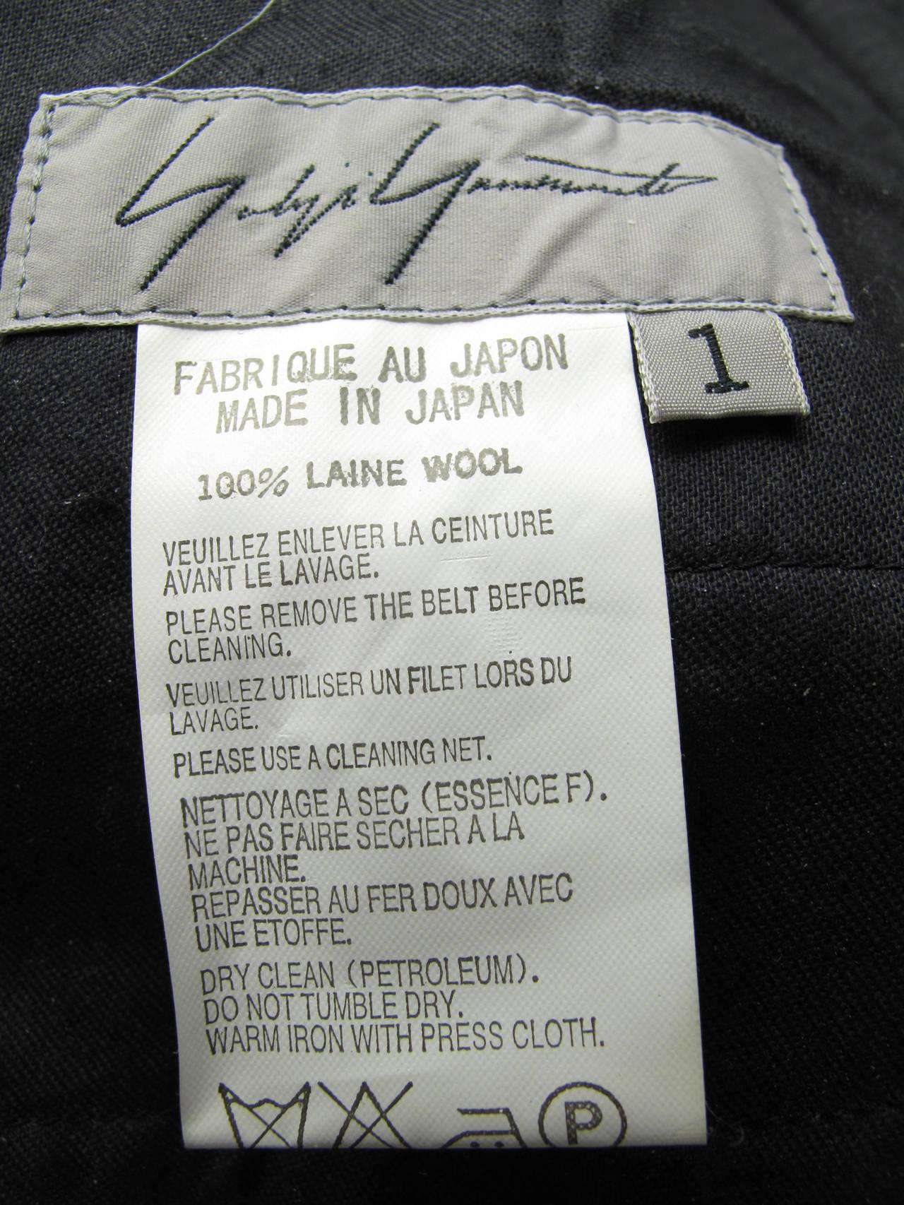 Yohji Yamamoto Wide Leg Trousers 4