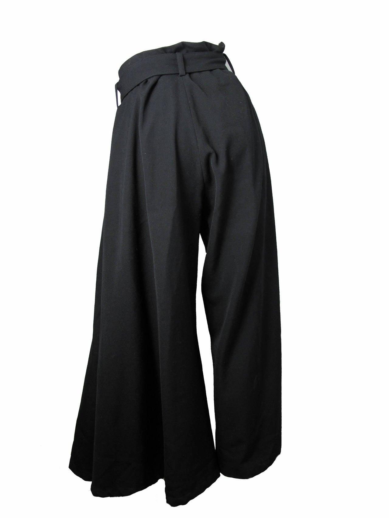 Yohji Yamamoto Wide Leg Trousers 3