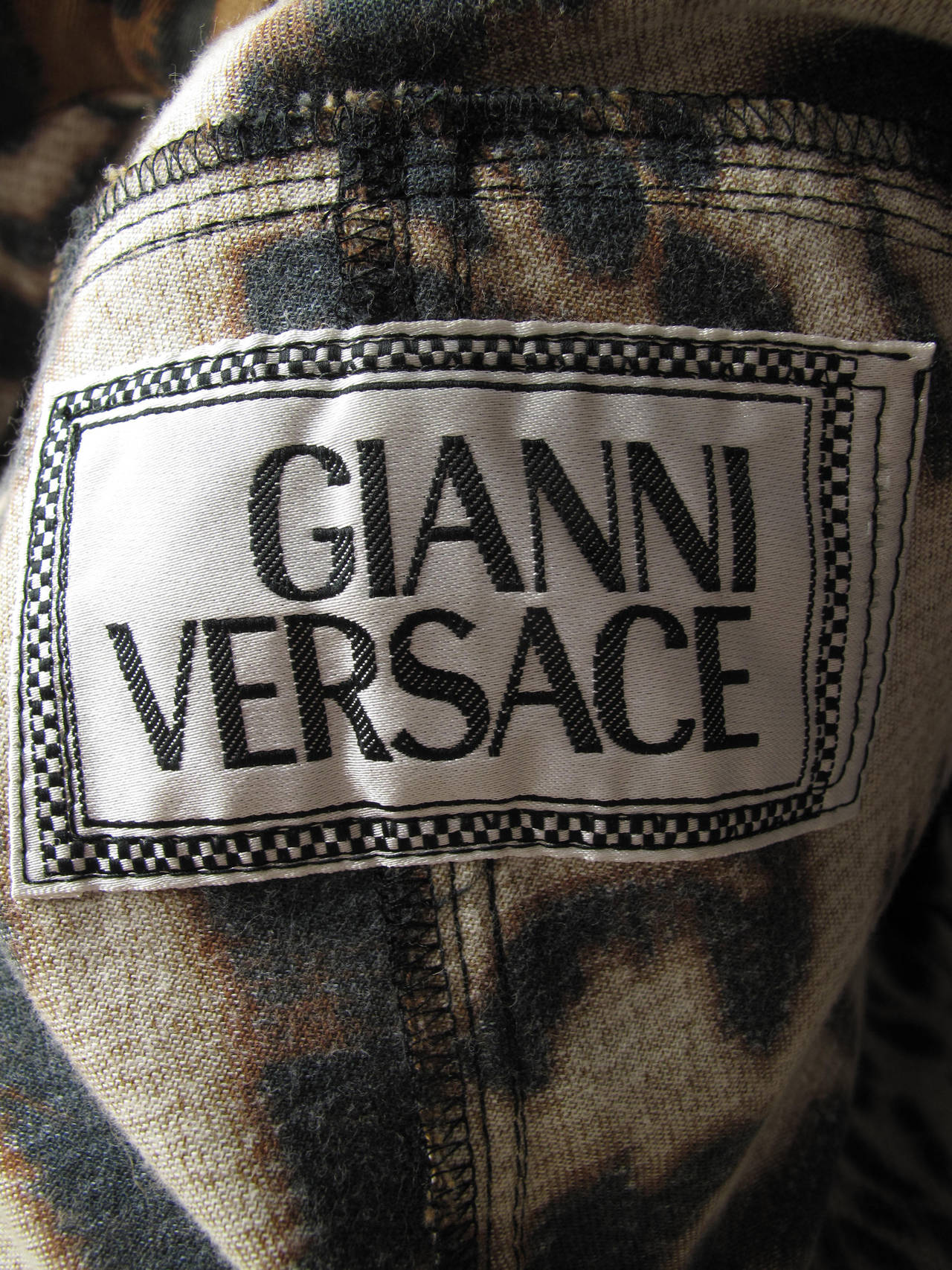 1992 Gianni Versace Leopard Denim Jacket and Jeans 4