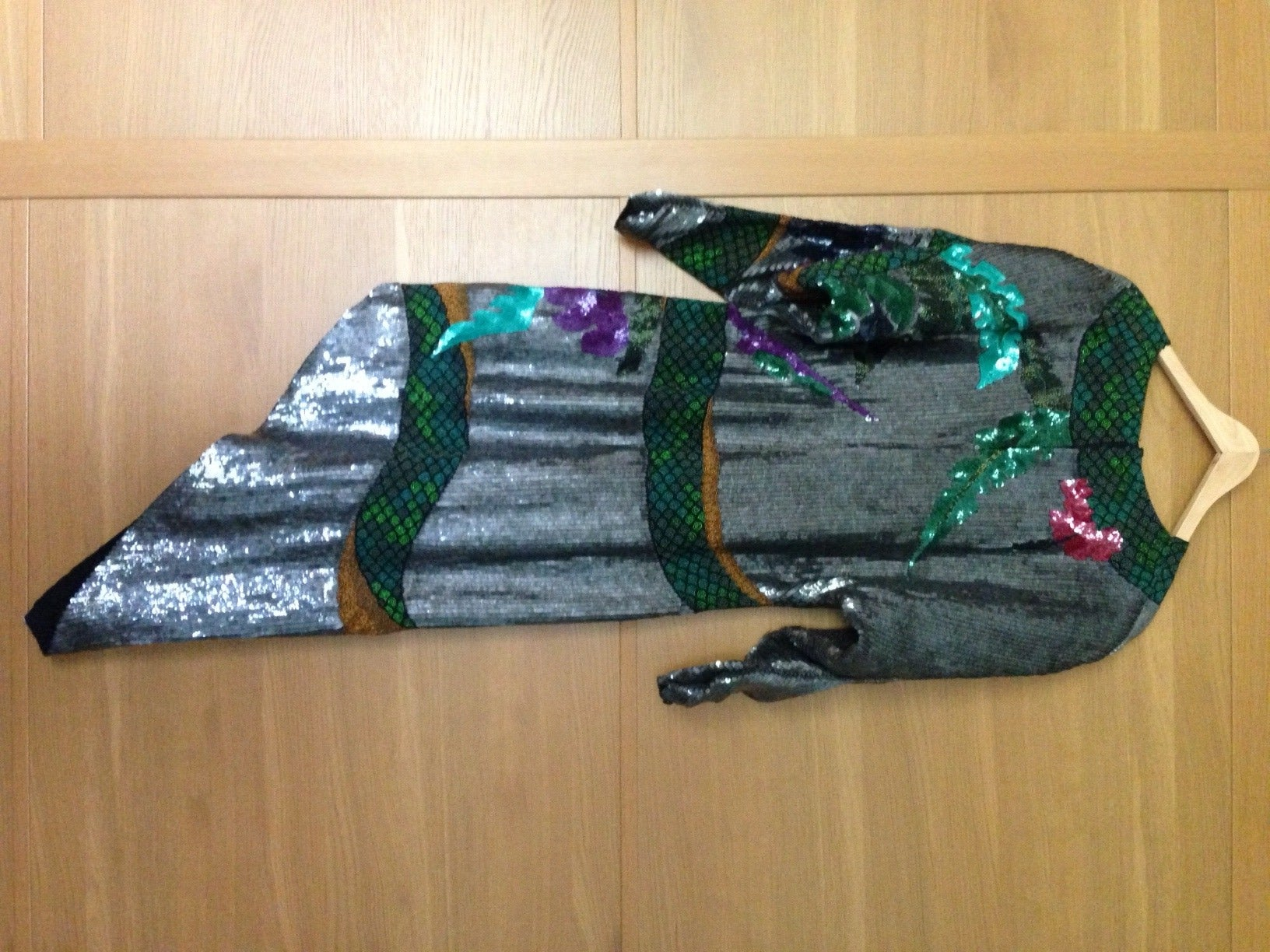 Rare beaded and sequin Krizia Snake Dress  - sale In Excellent Condition For Sale In Austin, TX