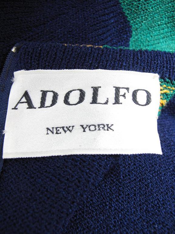 1970s Adolfo Knit Dress  4