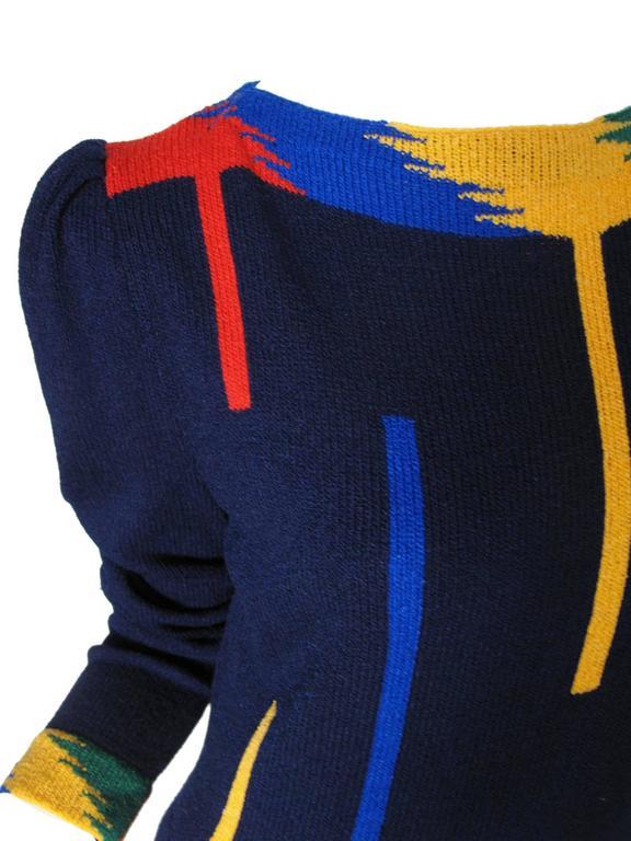 1970s Adolfo Knit Dress  5