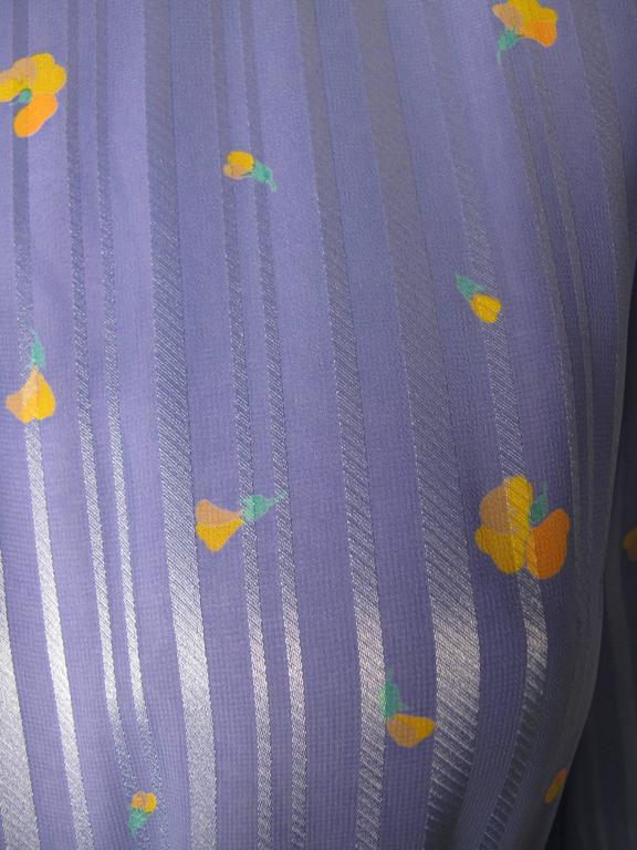 Hanae Mori Silk Floral Gown  5