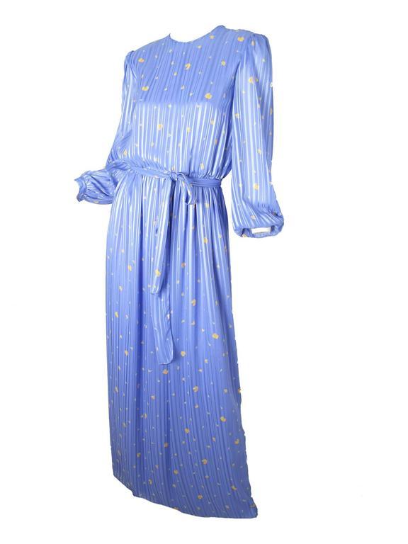 Hanae Mori Silk Floral Gown  3