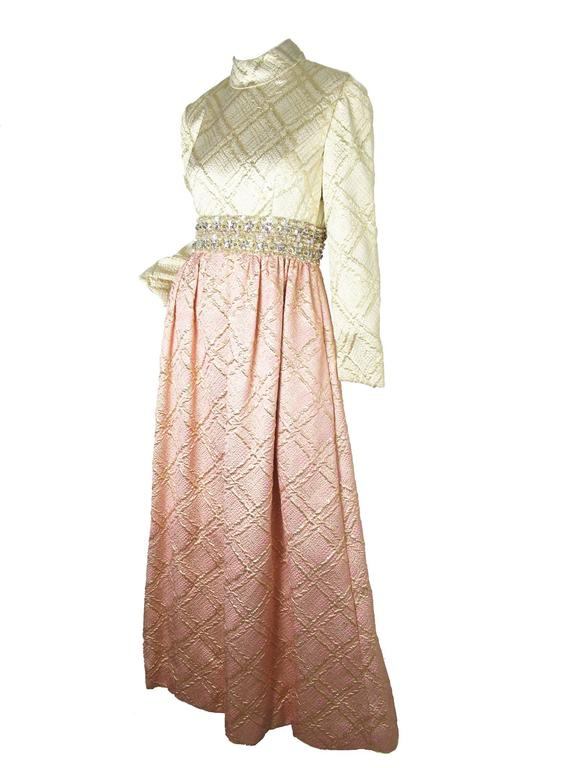 1960s Ceil Chapman Beaded Evening Gown 2