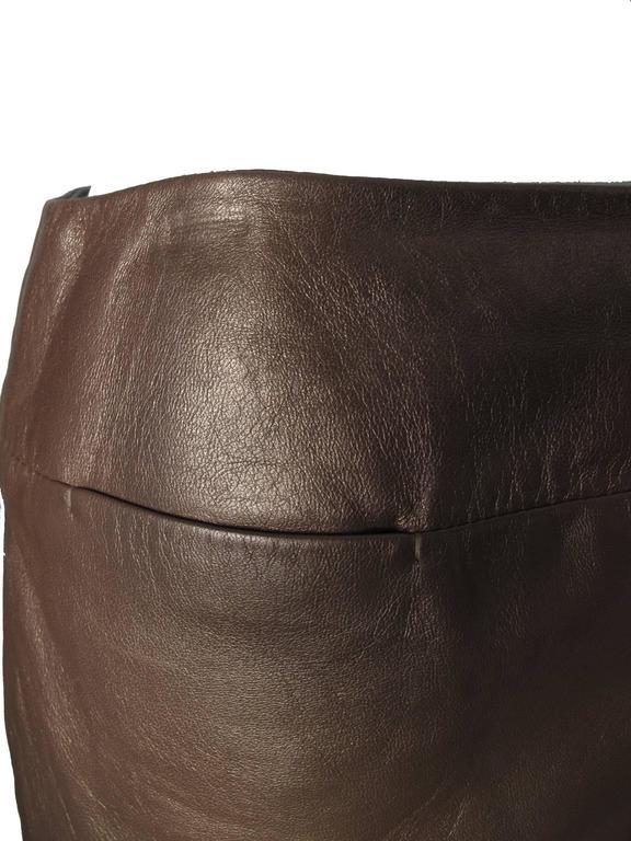 Prada Brown Leather Skirt 6
