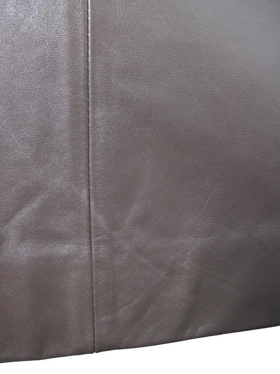 Prada Brown Leather Skirt 8