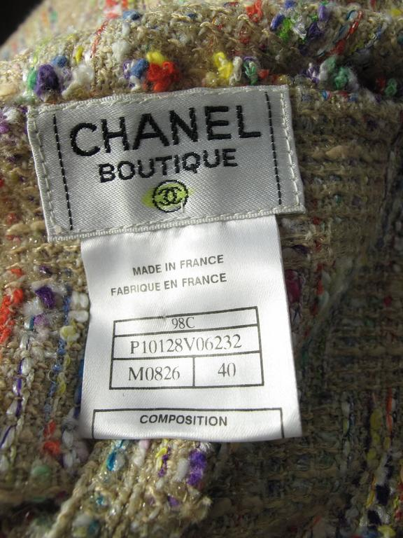 Chanel Fantasy tweed wrap skirt  4