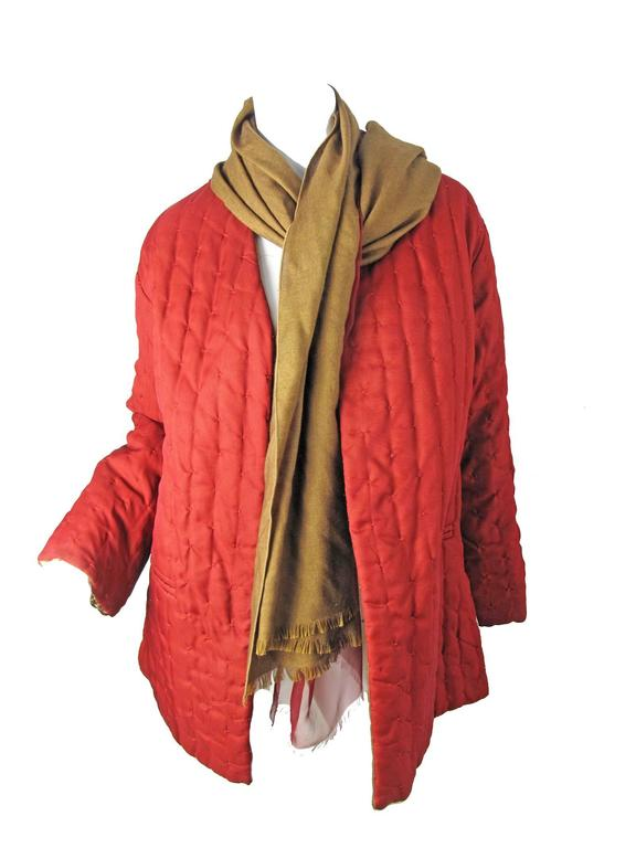 Amazing Gianfranco Ferre Reversible Coat with attached Scarf/ Head Scarf 6