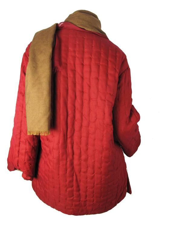 Amazing Gianfranco Ferre Reversible Coat with attached Scarf/ Head Scarf 7
