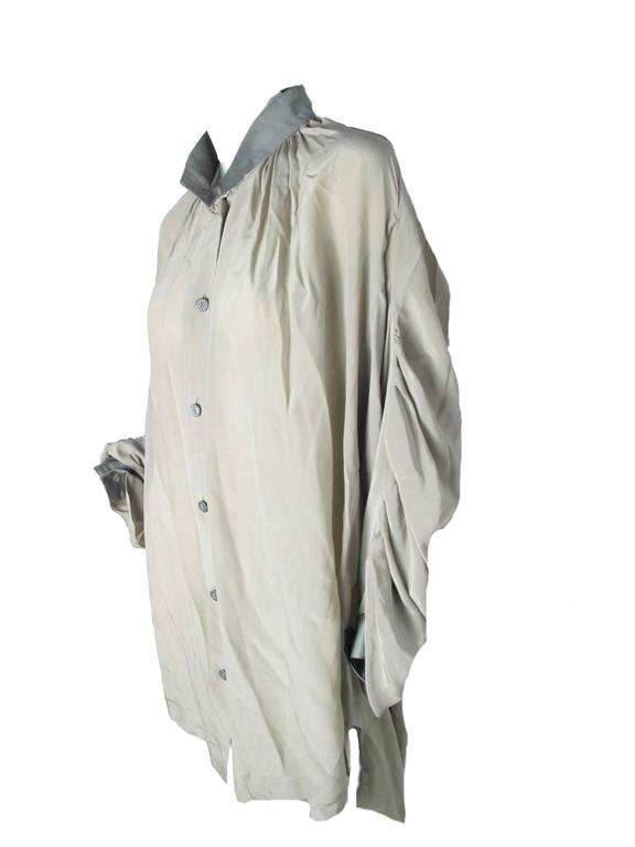 Gray Vivienne Westwood Anglomania Chiffon Pirate Blouse For Sale