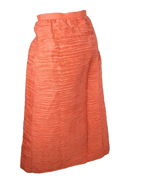 Sybil Connolly Lace Blouse and Pleated Irish Linen Skirt, 1960s Couture For Sale 5