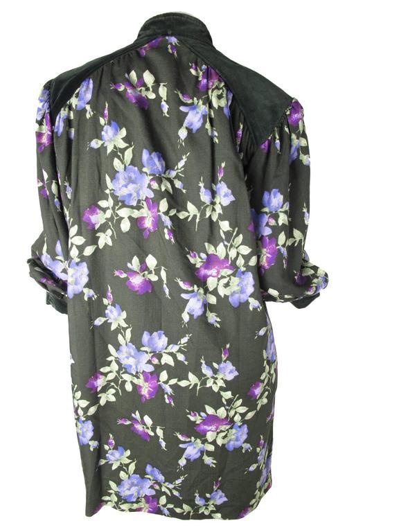 Yves Saint Laurent Rive Gauche Floral Sack Dress 2