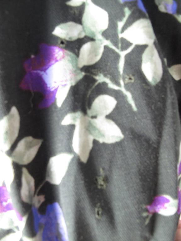 Yves Saint Laurent Rive Gauche Floral Sack Dress In Fair Condition For Sale In Austin, TX