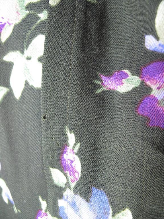 Women's Yves Saint Laurent Rive Gauche Floral Sack Dress For Sale