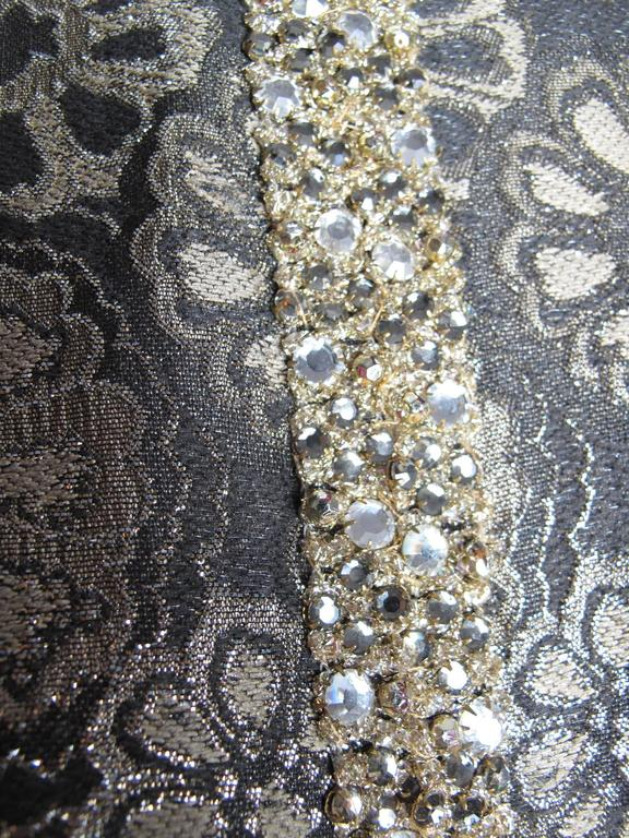 Adele Simpson Brocade and Rhinestone Dress 2