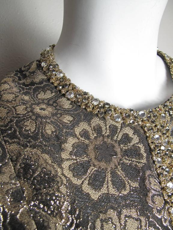 Adele Simpson Brocade and Rhinestone Dress 3