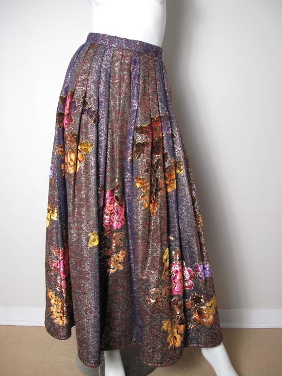 Oscar de la Renta Peasant Skirt and Top In Good Condition For Sale In Austin, TX