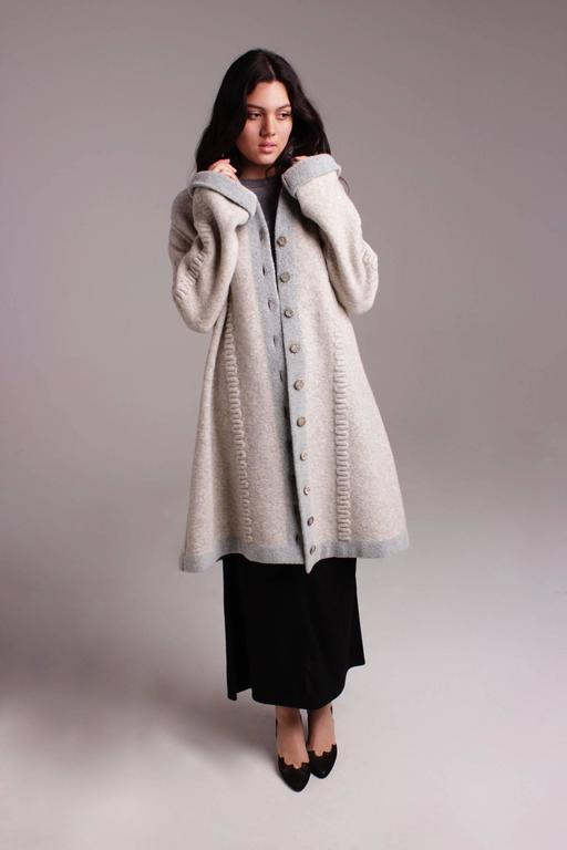 Rare 1990s Alaia Sweater Coat - sale For Sale 3