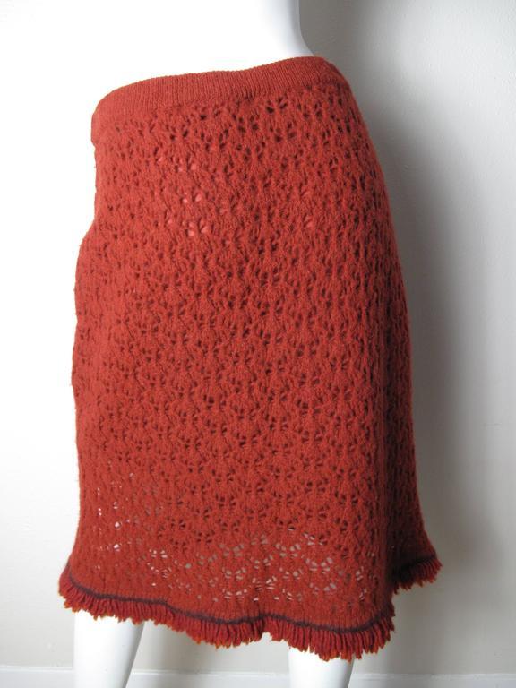Women's Chanel Crochet Skirt  For Sale