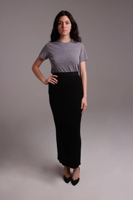 Yohji Yamamoto long skirt with exterior pockets - sale For Sale 1